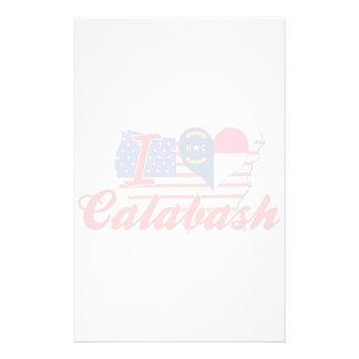 I Love Calabash, North Carolina Customized Stationery