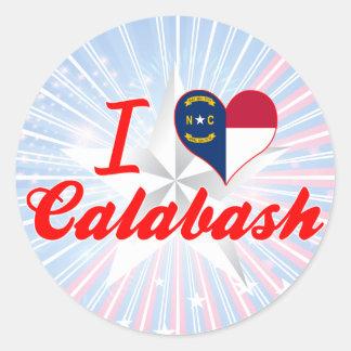 I Love Calabash, North Carolina Round Stickers