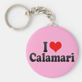I Love Calamari Key Ring