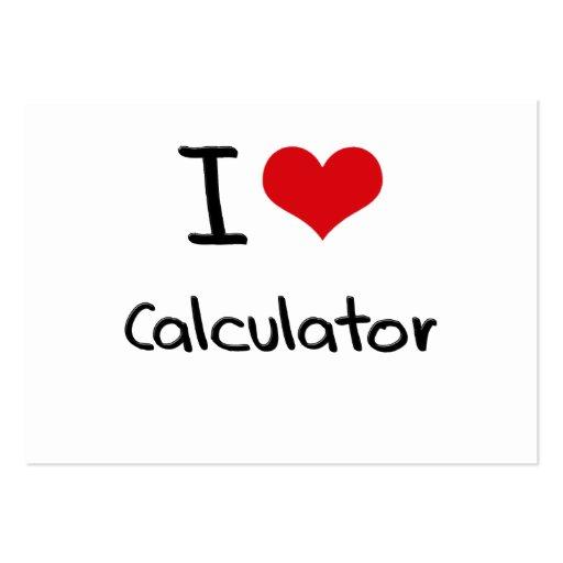 I love Calculator Business Cards