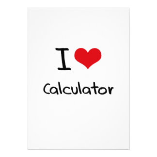 I love Calculator Personalized Invite
