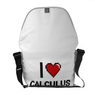I Love Calculus Digital Design Messenger Bags