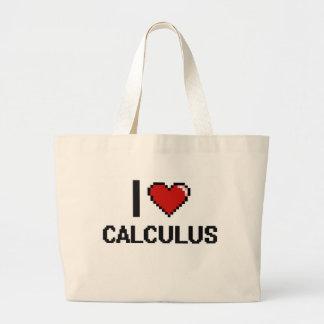 I Love Calculus Digital Design Jumbo Tote Bag