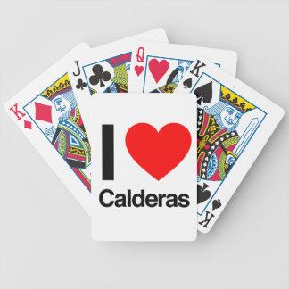 i love calderas bicycle playing cards