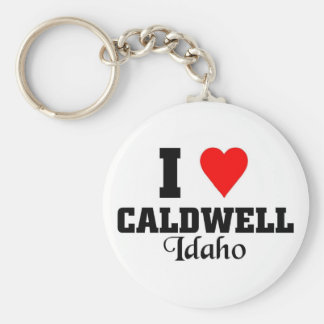 I love Caldwell, Idaho Key Ring