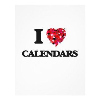I love Calendars 21.5 Cm X 28 Cm Flyer