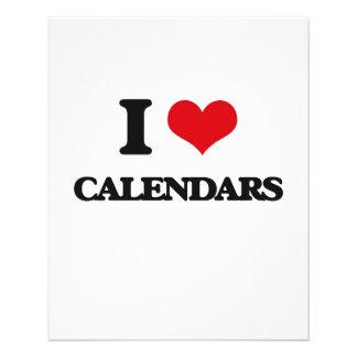 I love Calendars Flyer Design