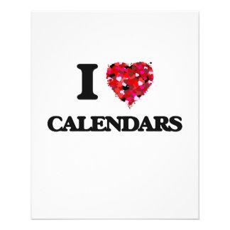 I love Calendars 11.5 Cm X 14 Cm Flyer
