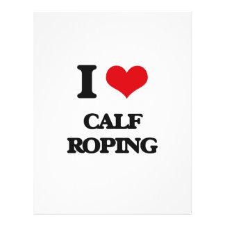 I Love Calf Roping Flyer