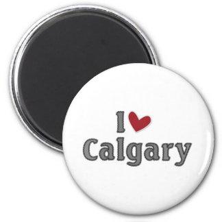 I love Calgary 6 Cm Round Magnet