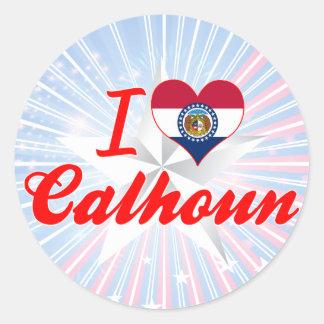 I Love Calhoun, Missouri Round Sticker