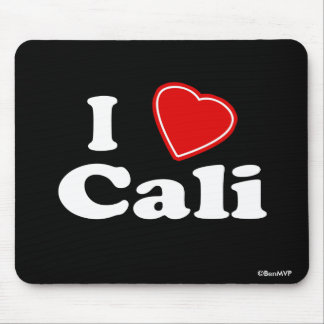 I Love Cali Mouse Mat
