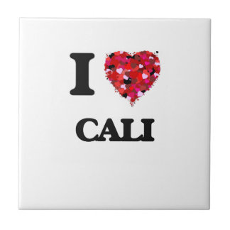 I Love Cali Small Square Tile