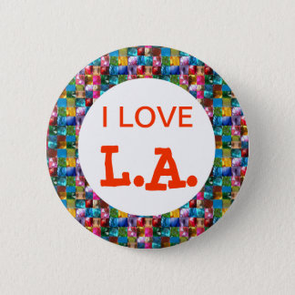 I LOVE CALIFORNIA 6 CM ROUND BADGE