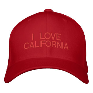 I LOVE CALIFORNIA - CAP by eZaZZleMan Embroidered Baseball Cap