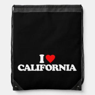 I LOVE CALIFORNIA DRAWSTRING BAG