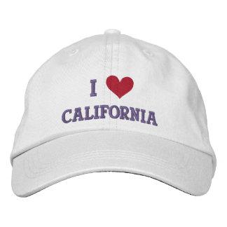 """I LOVE CALIFORNIA"" EMBROIDERED BASEBALL CAP"
