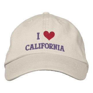 I LOVE CALIFORNIA EMBROIDERED BASEBALL CAPS