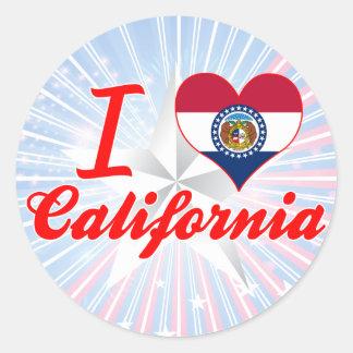 I Love California, Missouri Sticker