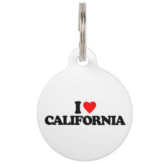 I LOVE CALIFORNIA PET NAME TAG