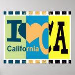 I love California - Pop art Print