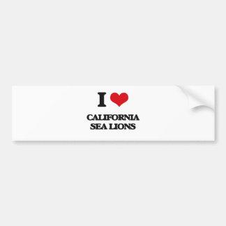 I love California Sea Lions Bumper Sticker
