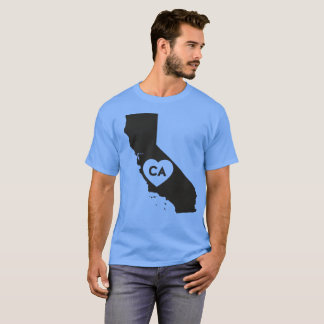 I Love California State Men's Basic Dark T-Shirt
