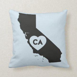 I Love California State Throw Pillow