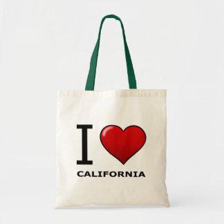 I LOVE CALIFORNIA TOTE BAG