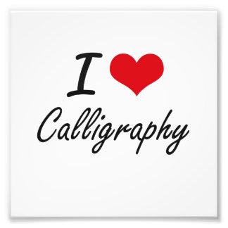 I love Calligraphy Artistic Design Photo