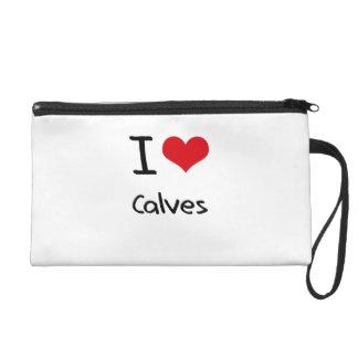 I love Calves Wristlet Clutches