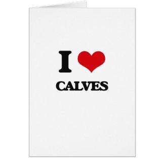 I love Calves Greeting Card