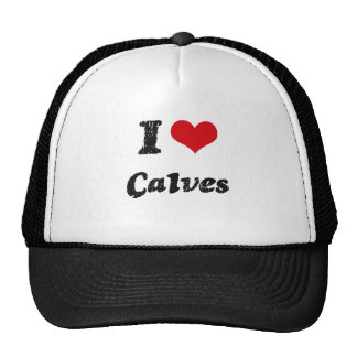 I love Calves Trucker Hat