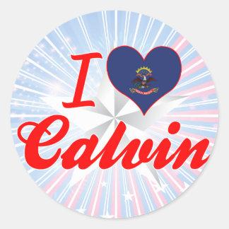 I Love Calvin, North Dakota Sticker
