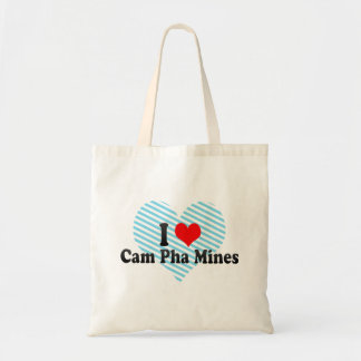I Love Cam Pha Mines, Viet Nam Budget Tote Bag