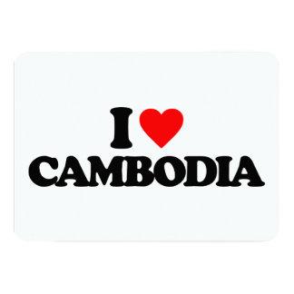I LOVE CAMBODIA 13 CM X 18 CM INVITATION CARD