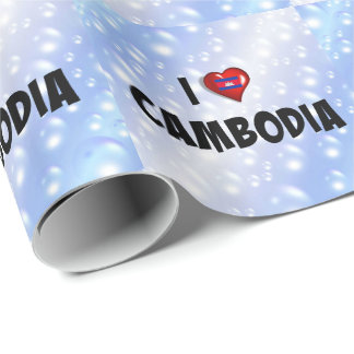 I Love Cambodia, flag of Cambodia Wrapping Paper