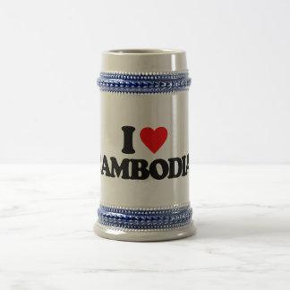 I LOVE CAMBODIA 18 OZ BEER STEIN