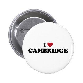 I Love Cambridge Massachusetts 6 Cm Round Badge