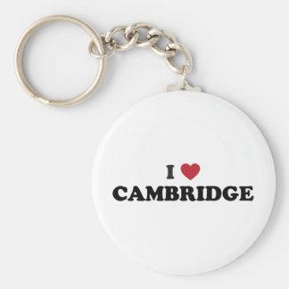 I Love Cambridge Massachusetts Key Ring
