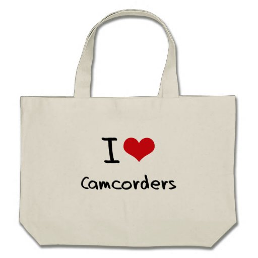 I love Camcorders Canvas Bags
