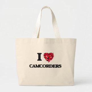 I love Camcorders Jumbo Tote Bag