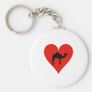 I Love Camels Basic Round Button Key Ring