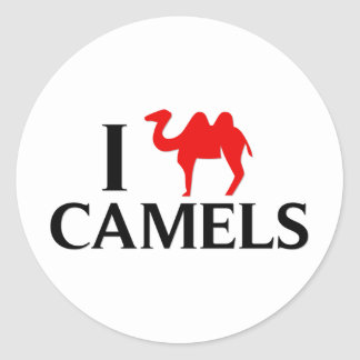 I Love Camels Classic Round Sticker