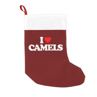 I LOVE CAMELS SMALL CHRISTMAS STOCKING