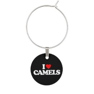 I LOVE CAMELS WINE CHARM