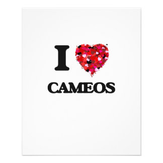 I love Cameos 11.5 Cm X 14 Cm Flyer