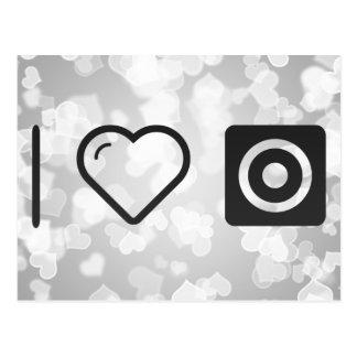 I Love Camera Lens Postcard