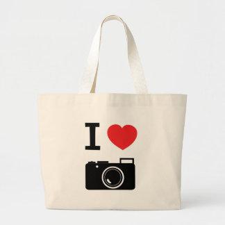 I love Cameras Large Tote Bag