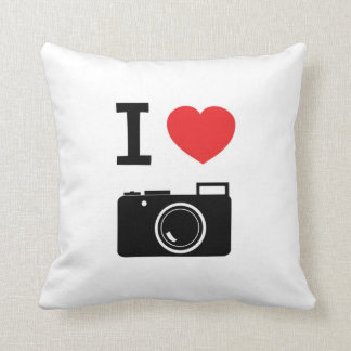 I love Cameras / photography Cushion
